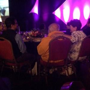 Randi and Linda at his gala.