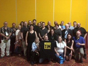 Some of the forum folk coming together at Del Mar 2.0 to support a Combat Wombat of note.